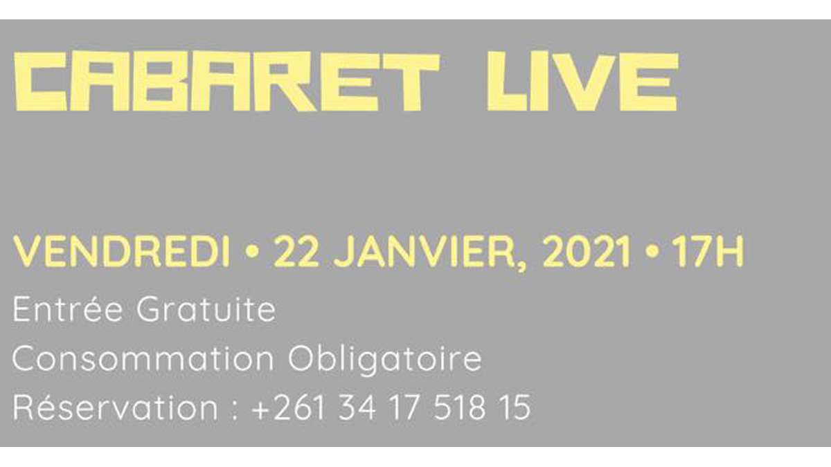 affiche Cabaret Live Cup cake coffee